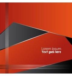 Orange black background design vector