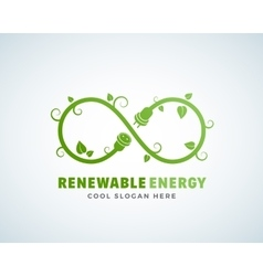 Renewable Energy Abstract Logo Template vector image vector image