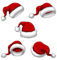 Santa Caps vector image vector image
