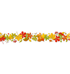 seamless border autumn falling leaf background vector image vector image