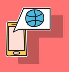 Sticker unusual look dribbble social media icon vector