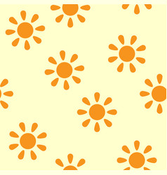 Sun seamless pattern vector