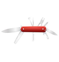 Swiss knife for diy vector