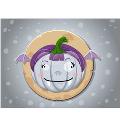Vampire girl pumpkin icon vector