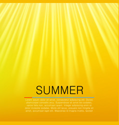 warm yellow sun beam summer concept vector image vector image
