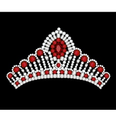 crown tiara woman vector image