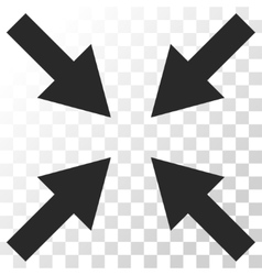 Compress arrows icon vector