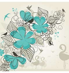 Paradise of birds vector image