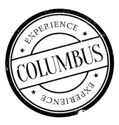 Columbus stamp rubber grunge vector image