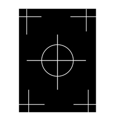 Field icon simple style vector