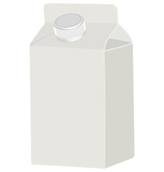 Milk blank white packing vector