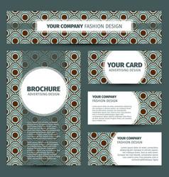 Brown japanese pattern corporate identity design vector