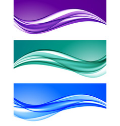 Abstract elegant colorful backgrounds set vector