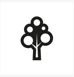 simple minimal black tree icon symbol style vector image