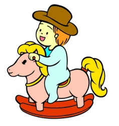 baby riding vector image