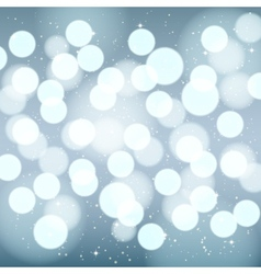 Abstract silver blurred winter background vector
