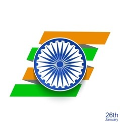 Modern indian republic day background vector