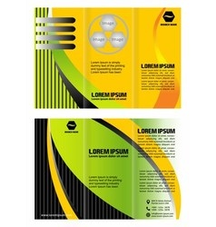 Tri fold business brochure template vector