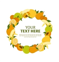 Wreath of fruit vector