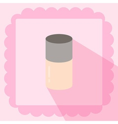 Make up base foundation flat icon on pink vector