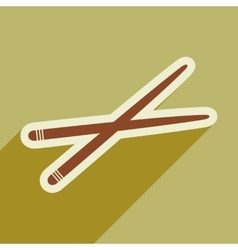 Flat with shadow icon chopsticks stylish vector