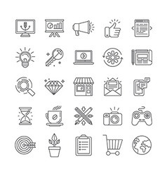 Set of 25 icons and signs vector