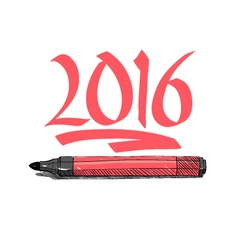 2016 year graffiti letters design vector