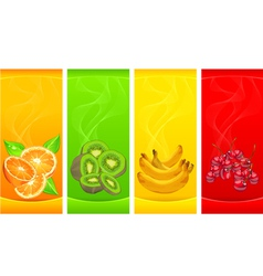 Little four coloured fruits background vector