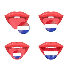 Tongue with flag design vector