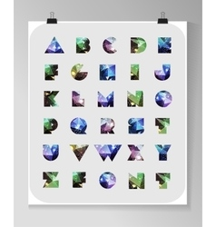 Abstract polygonal letter in Cosmic style vector image