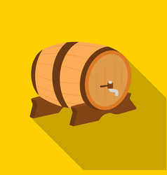 beer barrel icon in flat style isolated on white vector image vector image