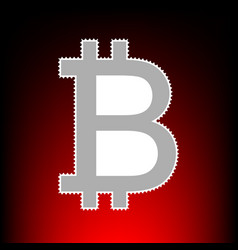 bitcoin style on vector image