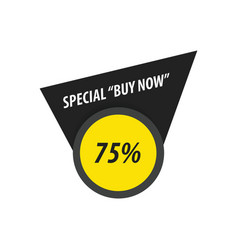 Buy now label design black yellow vector