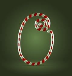 Candy cane abc 0 vector