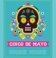 cinco de mayo greeting card vector image vector image