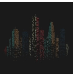 City Skyscraper Background vector image vector image