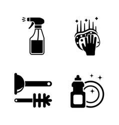 Clean surface simple related icons vector