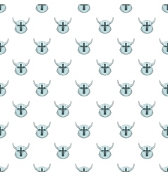 Combat helmet pattern cartoon style vector