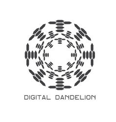 Concept digital dandelion logo vector
