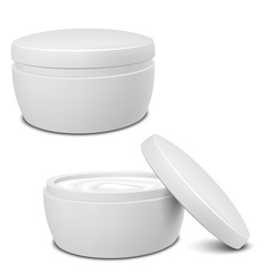 Cream container vector