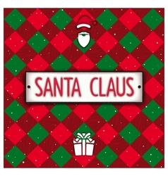 Creative santa claus signboard vector