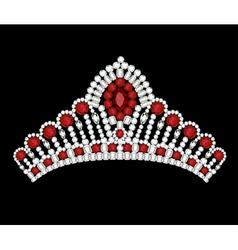 Crown tiara woman vector