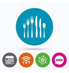 Dessert fork knife teaspoon cutlery set vector
