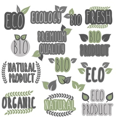 Eco bio organic natural vector
