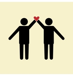 Friendship icon vector image
