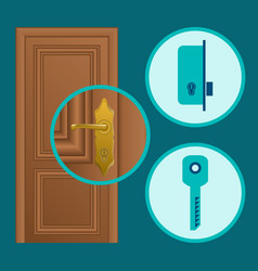 handle installation vector image