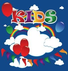 kids 2 vector image vector image