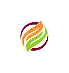 leaf recycle abstract logo vector image