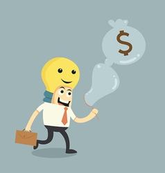 Make ideas to money vector