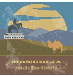 Mongolia retro styled image vector